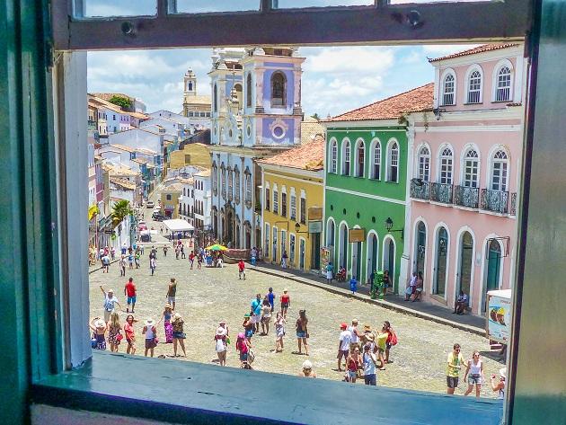 Vista da janela da Fundação Jorge Amado