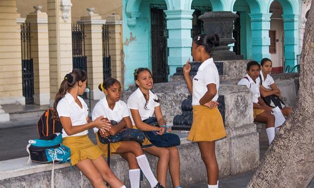 Estudantes em Havana