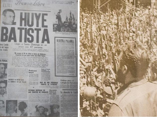 Fidel discursa em havana após a fuga de Batista.