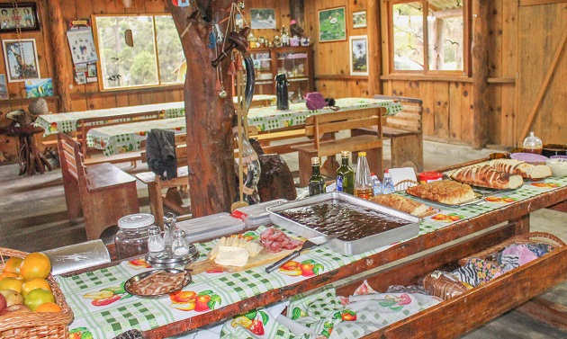 Café da manhã na Arroio da Serra.