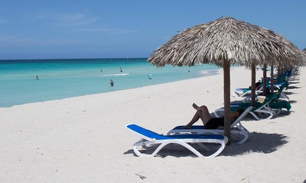 Praia de Varadero.