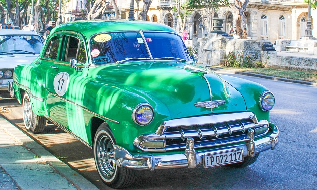 Taxis em Cuba