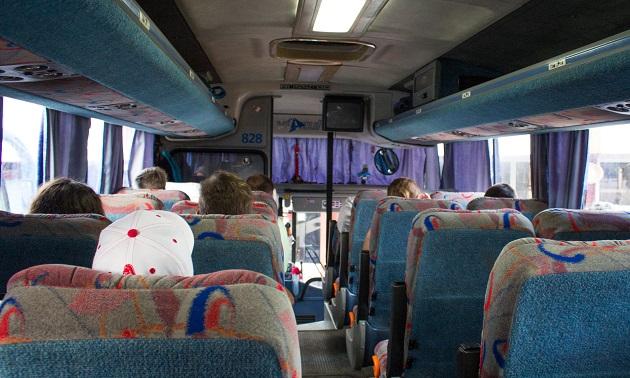 Ônibus da Viazul de Varadero para Trinidad.
