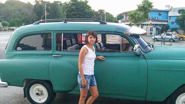 Taxi coletivo que peguei em Havana.