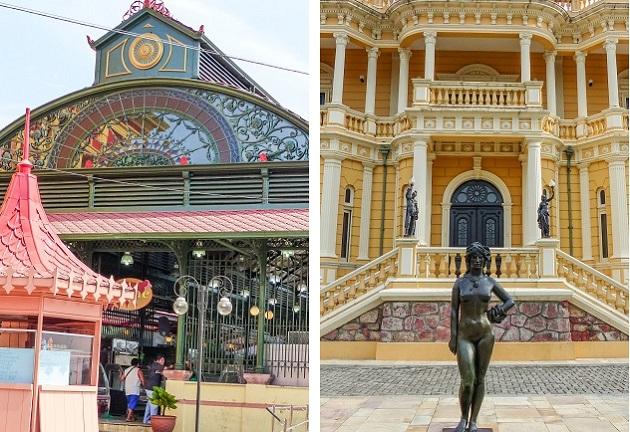 Mercado Adolfo Lisboa e Palacete Rio Negro