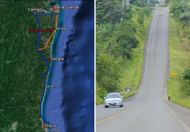 Nosso roteiro de Ilhéus a Barra Grande, via Camamu