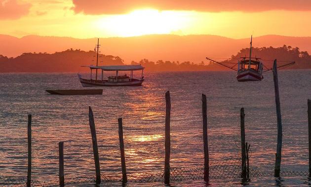 Pôr do sol em Maraú