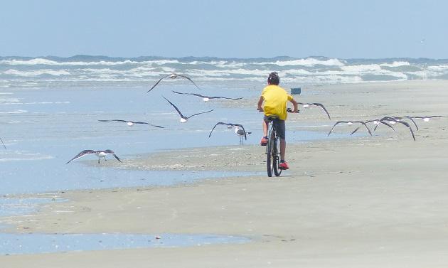 De bike pela Praia Deserta