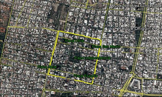 Mapa de Mendoza.