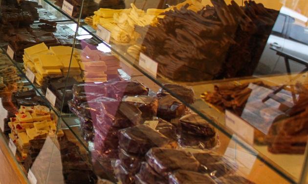 Chocolates artesanais em Villa la Angostura.