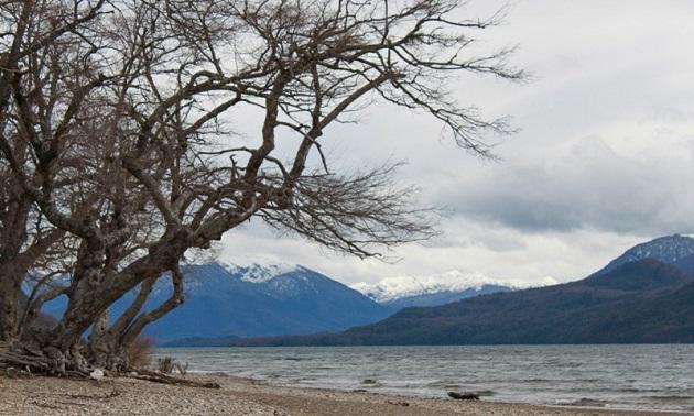 Vista a partir da praia de Quila Quina.