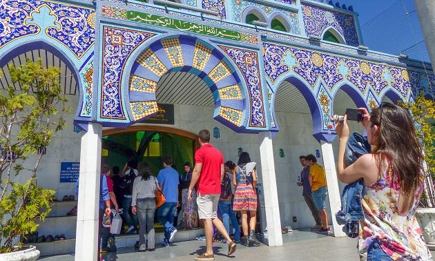 A mesquita muçulmana de Curitiba